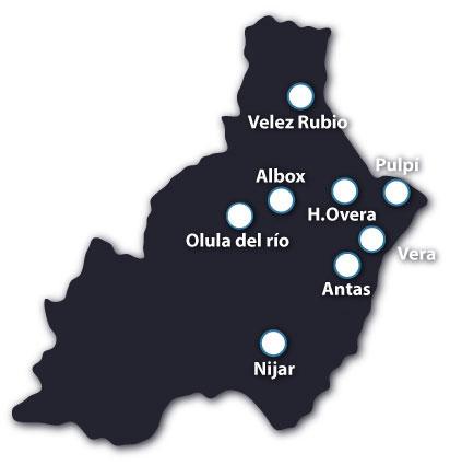 Mapa de centros San Jerónimo